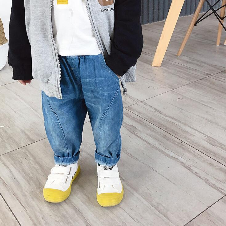 2019 new arrival girls boys  denim  pants autumn spring  fashion kids jean pants 1-6t HU532(China)