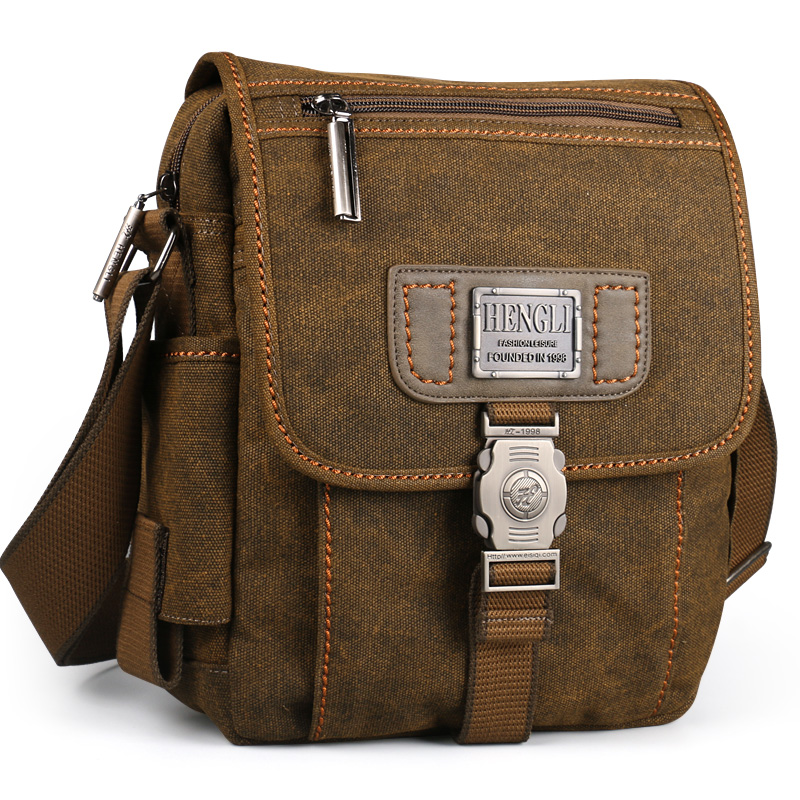Men bag canvas shoulder bags leisure wear resistant retro cross messenger Vintage bag casual fashion crossbody Bag