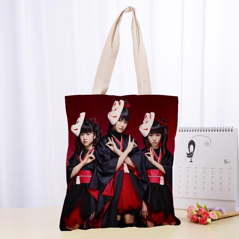 High Quality BABYMETAL Canvas Tote Bag Fashion Durable Women Student Cotton Linen Handbag Printed Shopping Bags Custom Logo