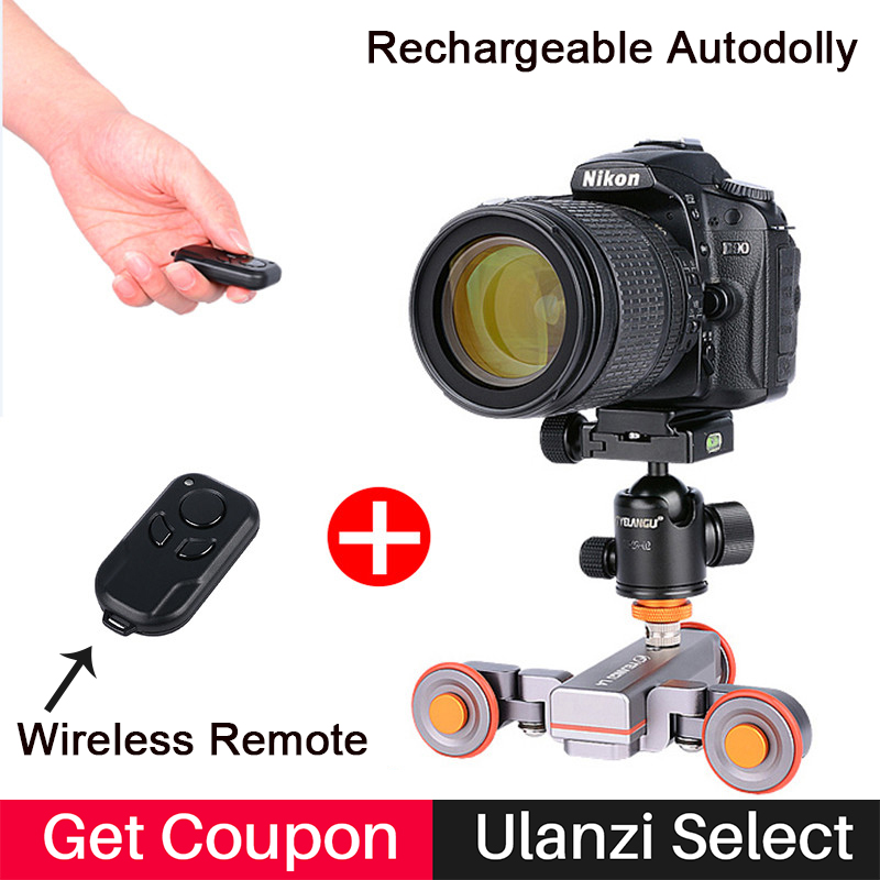 Motorized Electric Autodolly Car Wireless Remote Control Video Track Rail Slider Skater Dolly for iPhone X Canon Sony Nikon SLR