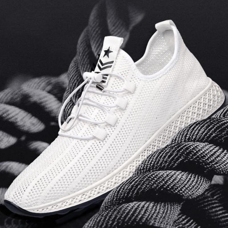 Mens Trainers Casual Sneakers Men Summer Breathable Mesh Shoes Black White Male Tennis Shoe Running Sports Man Sneakers Trendy