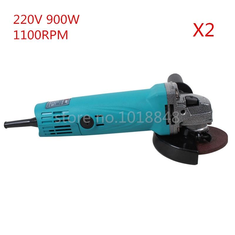 ФОТО 2pcs/Lot 220V 900W 11000r/m Wheel Dia 100mm Angle Grinder Polishing machine Grinding Machine