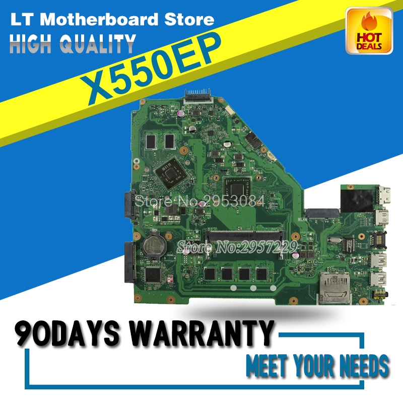 X550EP Motherboard REV2.0 4G Memory For ASUS F552EP X552E A552E X552EP Laptop motherboard X550EP Mainboard X550EP Motherboard
