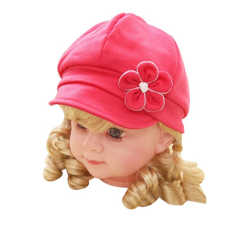 Leuke bloem pasgeboren hoed katoen Baby meisjes caps lente herfst - Babykleding