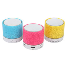 Newest Cool LED MINI Bluetooth Speaker A9 TF USB FM Wireless Portable Music Sound Box Subwoofer Loudspeakers For phone PC
