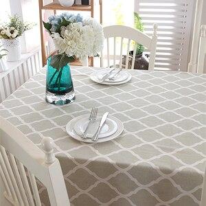 Weihnachtstischdecke Bequeme Leinen Einfache Muster Waschbar Tischtuch Spitze für Kaffee Abendessen Hochzeitsbankett