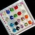 10 Par/lote Nueva Moda Estilo Clásico Del Grano de Cristal Stud Aretes Para Las Mujeres rhinestone brincos Joyería Precio Al Por Mayor