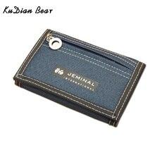 KUDIAN BEAR boys Wallet Short Designer Men Wallets Zipper Coin Purse Card Holder For Teenager BID047