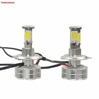 2 H4 H L H7 LED Faro Bombillas Alquiler De Luces Conversion Impermeable Cob 120W 11000LM