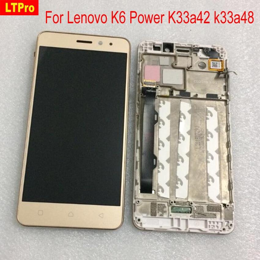LTPro Top Qualität Voll LCD Display Touchscreen Digitizer Montage mit Rahmen Für Lenovo K6 Power K33a42 k33a48 Telefon teile