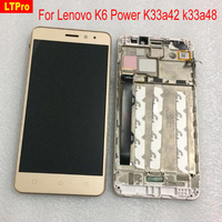 Top Quality NEW Black White Gold Replacement LCD Display Touch Digitizer Screen Assembly For Lenovo K6