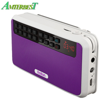 AMTERBEST E500 Portátil Rádio FM Alto-falantes de Graves Clara Dupla Faixa Estéreo Bluetooth Speaker TF Cartão de Leitor de Música USB para Telefones
