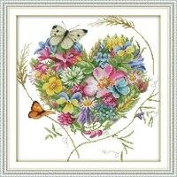 Joy Sunday Вышивка крестом бабочки любовь цветы прозрачный Patter Цветочный принт Счетный узор наборы для вышивки крестом для начинающих