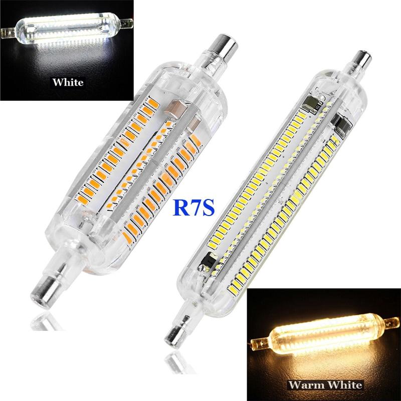 buy r7s led lamp 78mm 118mm 10w 15w smd3014 ip65 silica gel glass shell led. Black Bedroom Furniture Sets. Home Design Ideas