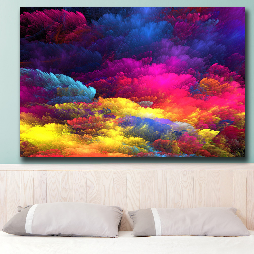 Splash Colorful Room Wall: Wxkoil Wall Art Rainbow Colorful Colors Splash Wall
