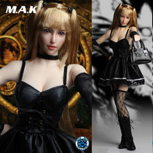 SUPER DUCK SET029 1/6 Cosplay Model of Death Misa Amane head & cothing set for 12 inches TBLeague S010D seamless body figure