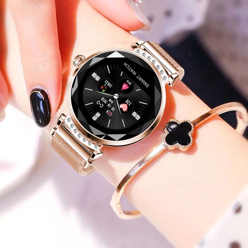 Femmes mode Bracelet montre intelligente H2 moniteur de fréquence cardiaque surveillance du sommeil podomètre Sport activité Tracker montre-Bracelet intelligente
