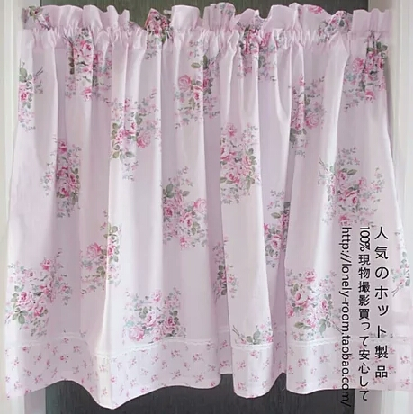 US $22.88 |Free shipping Cotton fabric country fresh rustic kitchen  curtains short coffee curtain for living room bedroom drapes 160*80cm-in  Curtains ...