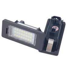 2pcs Error Free 24 LED Car Number License Plate Lights LED Light For BMW E46 E60 E61 E90 1 3 5 X Series Styling Accessories Lamp icoco 2016 new 2pcs error free white 18 led number license plate lights for bmw e46 2d m3 hot selling