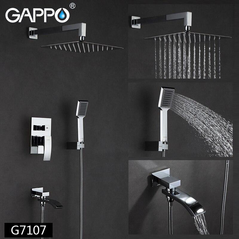 GAPPO Dusche Armaturen bad wasserhahn mischer badewanne wasserhähne regen dusche set wand montiert dusche system torneira tun chuveiro - 2