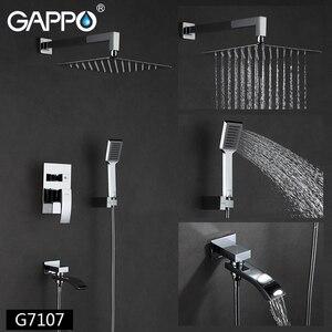 Image 2 - GAPPO Shower Faucets bathroom faucet mixer bathtub taps rainfall shower set wall mounted shower system torneira do chuveiro