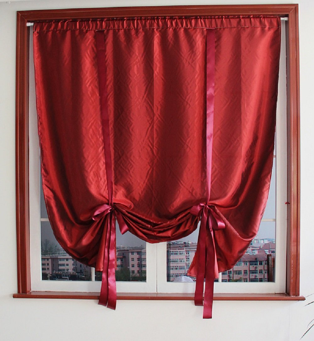 Ho how to tie balloon curtains - Winlife Rod Pocket Roman Curtain Tie Up Shade Window Panels For Living Room And Bedroom Adjustable Curtain Kitchen Curtain