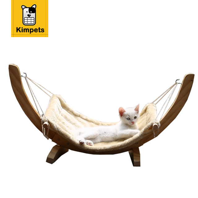 Kimpets New Pet Cat Bed Small Dog Puppy Kennel Sofa Wood Cloth Removable DIY Bed Pet Mat Cat House Cat Sleeping Bag Fashion Nest