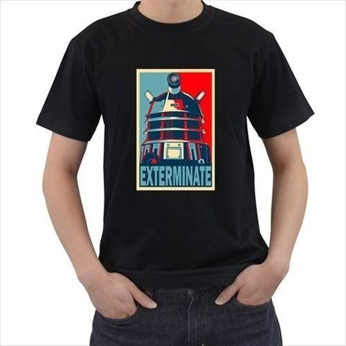 DOCTOR WHO EXTERMINATE Dalek Mens T-Shirt Novelty Cool Tops MenS Short Sleeve T shirt