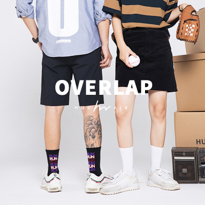 2019 Men's Cotton Letter Harajuku Hip Hop Casual Funny   Socks   High Thigh Sports   Socks   Cycling   Socks   Coolmax Art Male Sox Men Gift