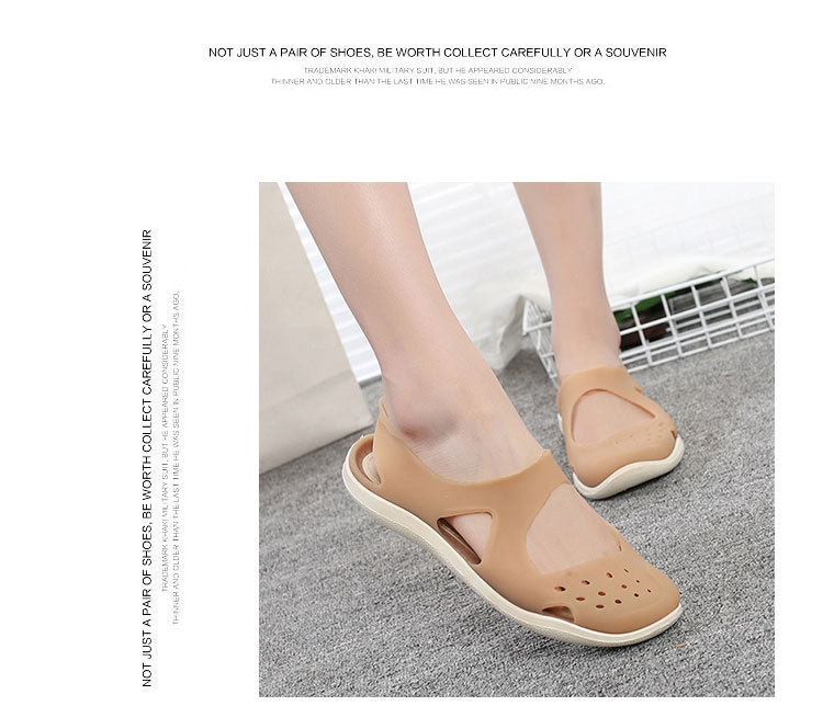 HTB1ro41bEvrK1RjSszfq6xJNVXaj - Women's Sandals Fashion Lady Girl Sandals Summer Women Casual Jelly Shoes Sandals Hollow Out Mesh Flats Beach Sandals