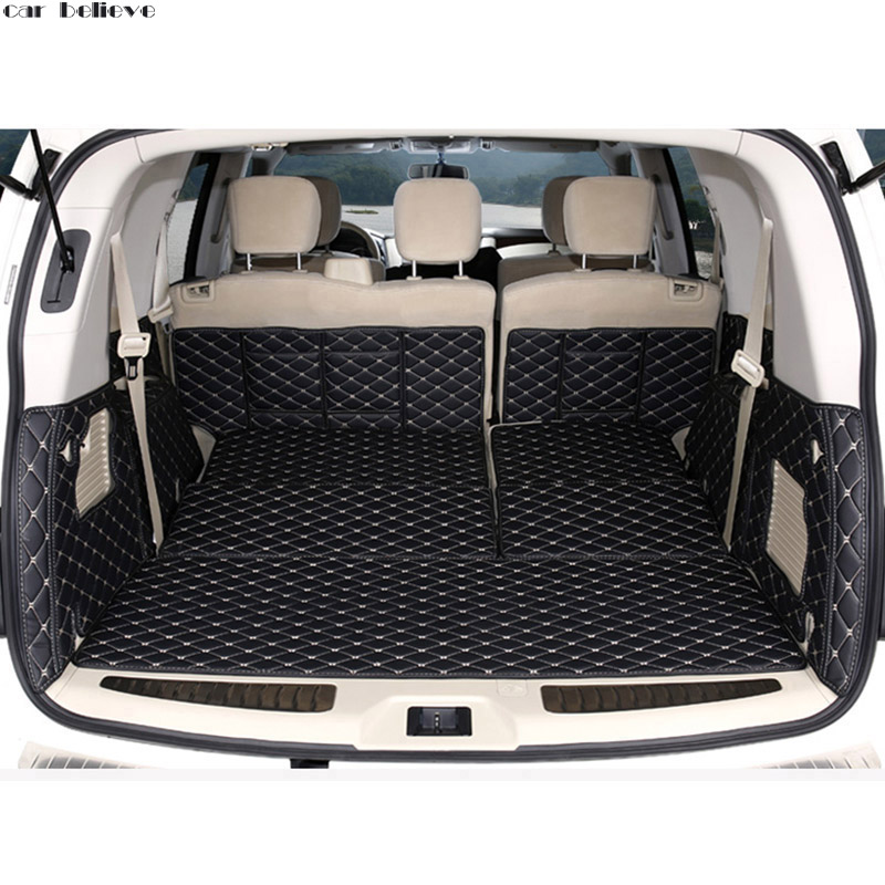Car Believe car trunk mat For nissan patrol y62 2014 2016 Cargo Liner font b Interior