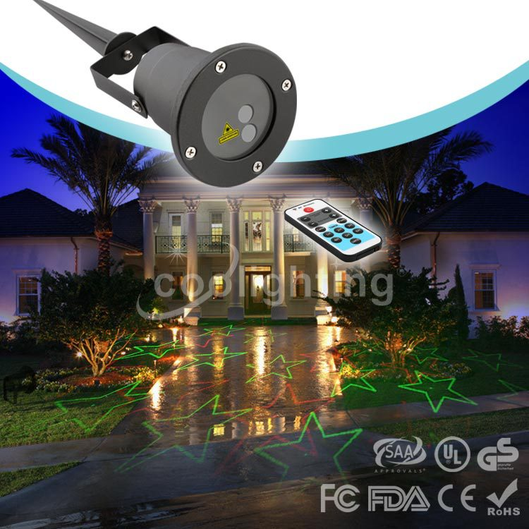 ФОТО High quality Christmas a larger remote waterproof laser lawn lamp The courtyard lawn lamp laser