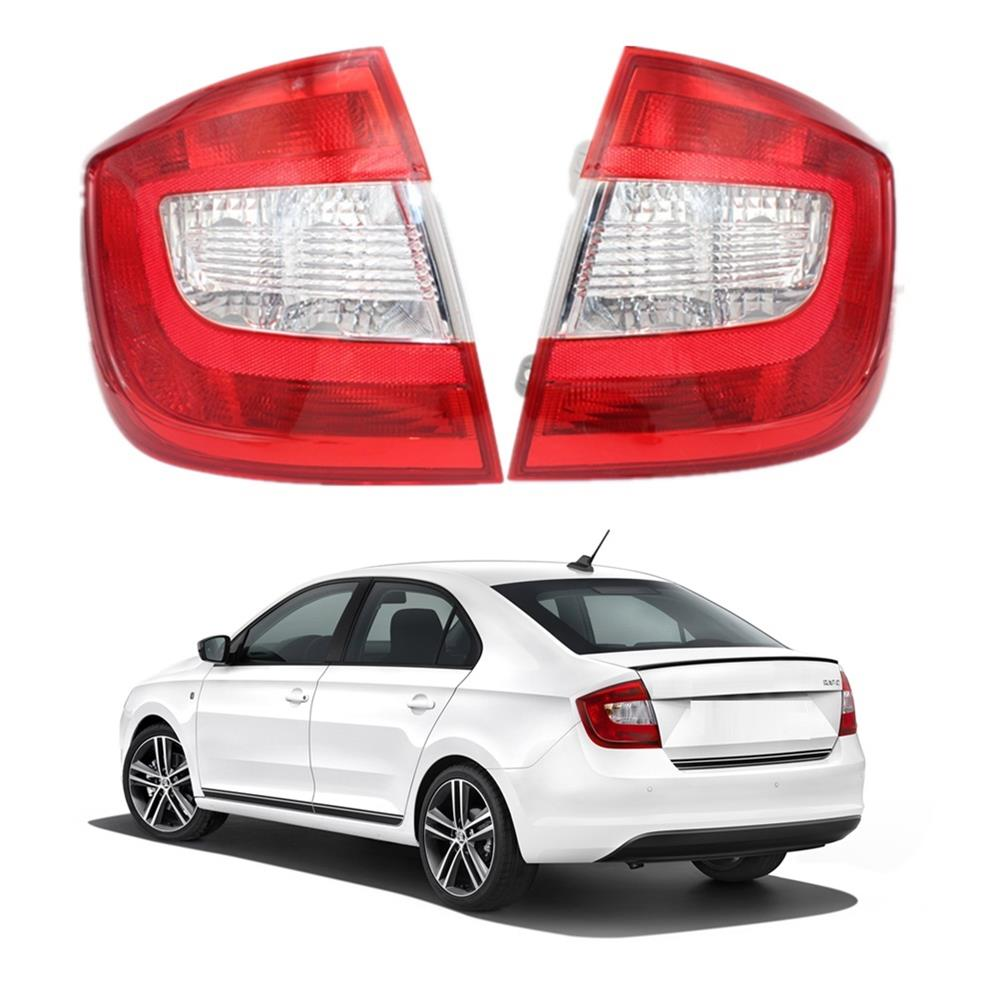 For Skoda Rapid  2013 2014 2015 2016 2017 2018 Car styling Tail Lamp Rear Light Without Wire Board and Bulbs-in Car Light Assembly from Automobiles & Motorcycles