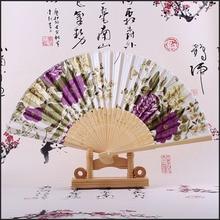 Hand-Fan Gifts Japanese-Flowers Silk Folding Party-Favors Guest Retro Xmas Fan-Surface
