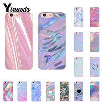 Yinuoda Pastel Metallic Tumblr TPU Soft Rubber Phone Cover for iPhone 5 5Sx 6 7 7plus 8 8Plus X XS MAX XR Fundas Capa