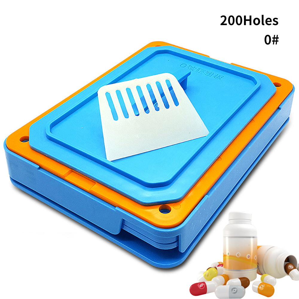 #0-200 Hole ABS Blue Capsule Filling Plate Filling Machine Manual Capsule Medicine Capsule Production DIY Herb
