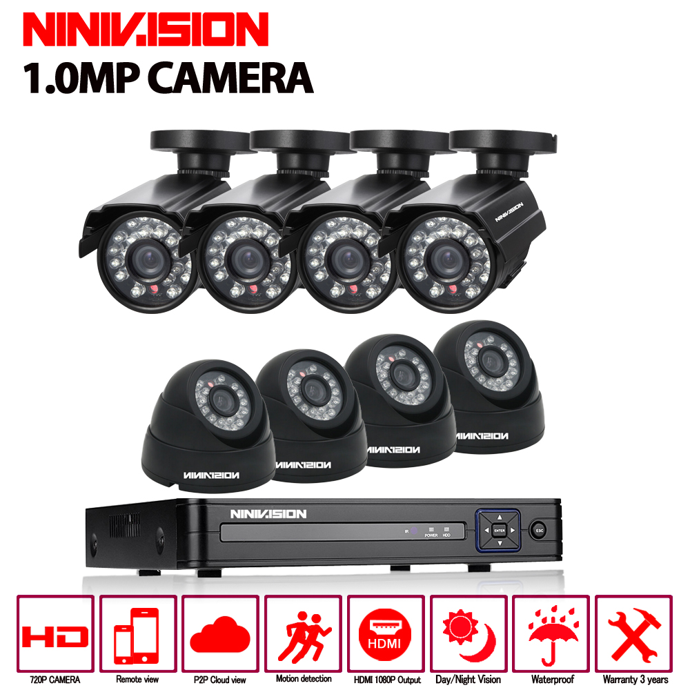 1080P HDMI 1080N DVR 720P HD Indoor Home Security Camera System 8CH CCTV Video Surveillance DVR