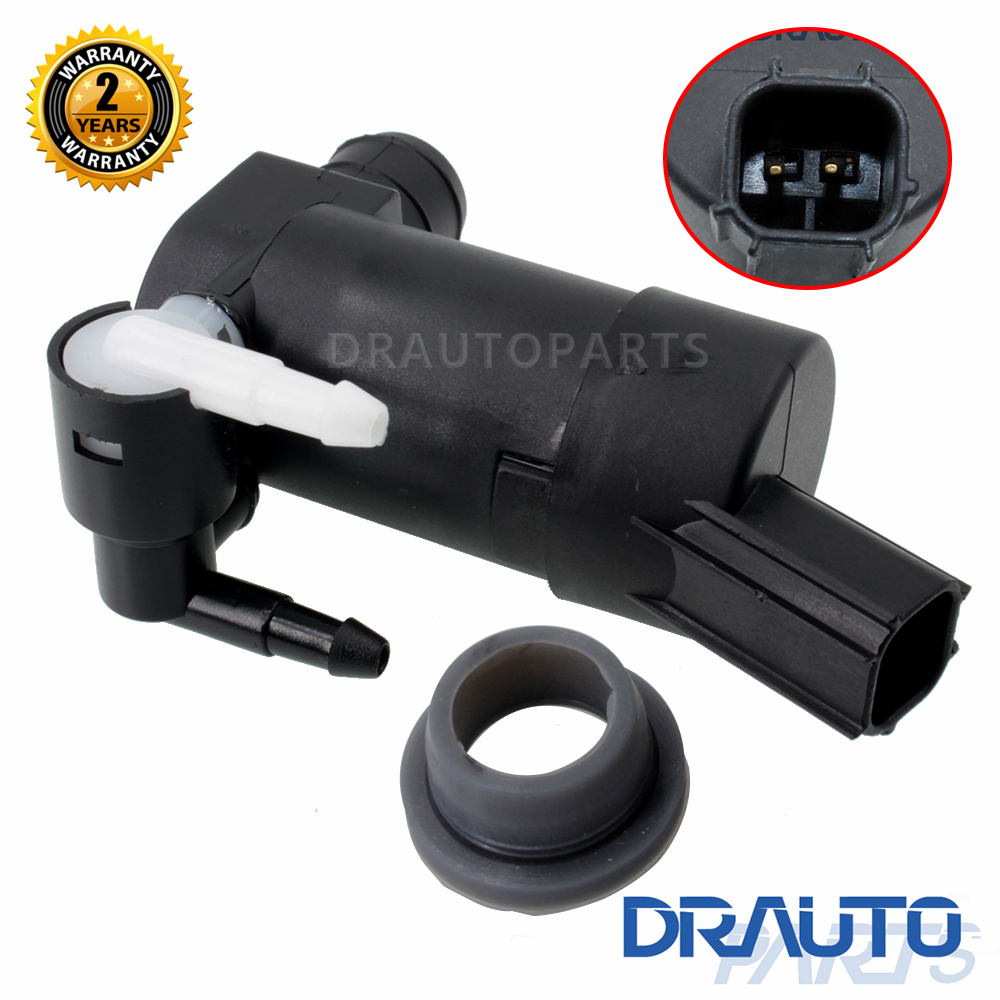 Front Rear Windshield Windscreen Washer Pump Fit for Volvo V50 V70 Estate XC90 C30 w/ Grommet