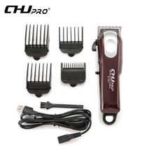 CHJ Rechargeable Hair Clipper Electric USB Rechargeable Trimmer Clipper Men Professional Haircut Machine Beard Razor riwa led display professional electric men s hair trimmer cutter rechargeable haircut cutting machine clipper for adult children