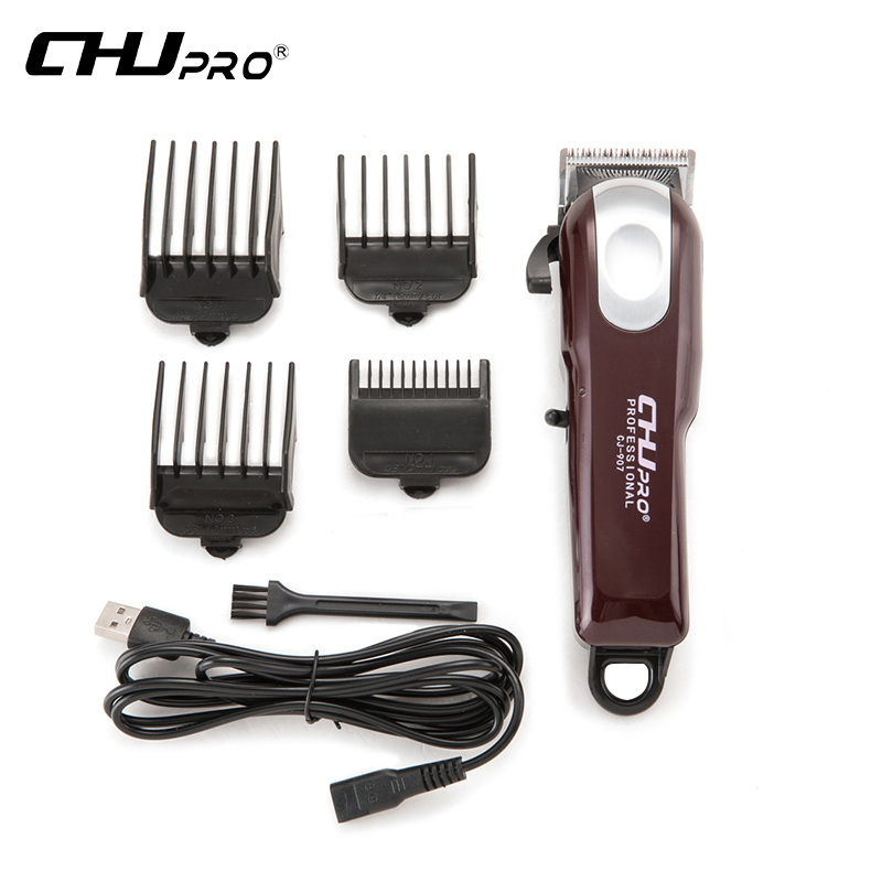 CHJ Rechargeable cheveux tondeuse électrique USB Rechargeable tondeuse tondeuse hommes professionnel coupe de cheveux Machine barbe rasoir