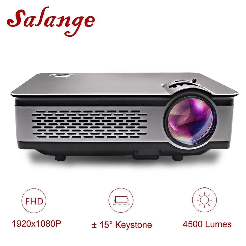 Salange T24 Proiettore Full HD 1080 p, 4500 Lumens HA CONDOTTO il Proiettore, Home Theater, HDMI VGA USB, 1920x1080 Film Beamer Proyector