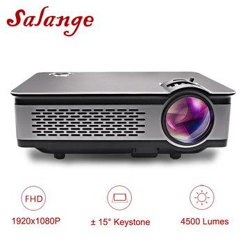 Salange T24 projektor Full HD 1080P projektor LED 3600 lumenów kino domowe HDMI VGA USB 1920 #215 1080 filmy Beamer proyector tanie i dobre opinie Business Edukacja Ostrości Projektor cyfrowy w salange Wtyczka Brytyjska wtyczka USA wtyczka AU plug wtyczka UE 30-200 cali