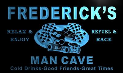 x0131-tm Fredericks Man Cave Pit Stop Custom Personalized Name Neon Sign Wholesale Dropshipping On/Off Switch 7 Colors DHL