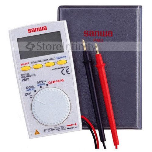 New Sanwa Pm3 Portable Mini Pocket Multimeter Digital