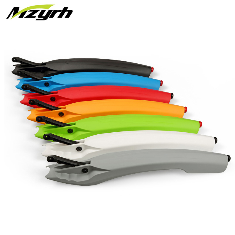 MZYRH 26 Inch Bike Fender Set with LED Taillight Flexible Front Rear Bicycle Mudguard Fenders Cycling Mud Guards Bicycle Wings
