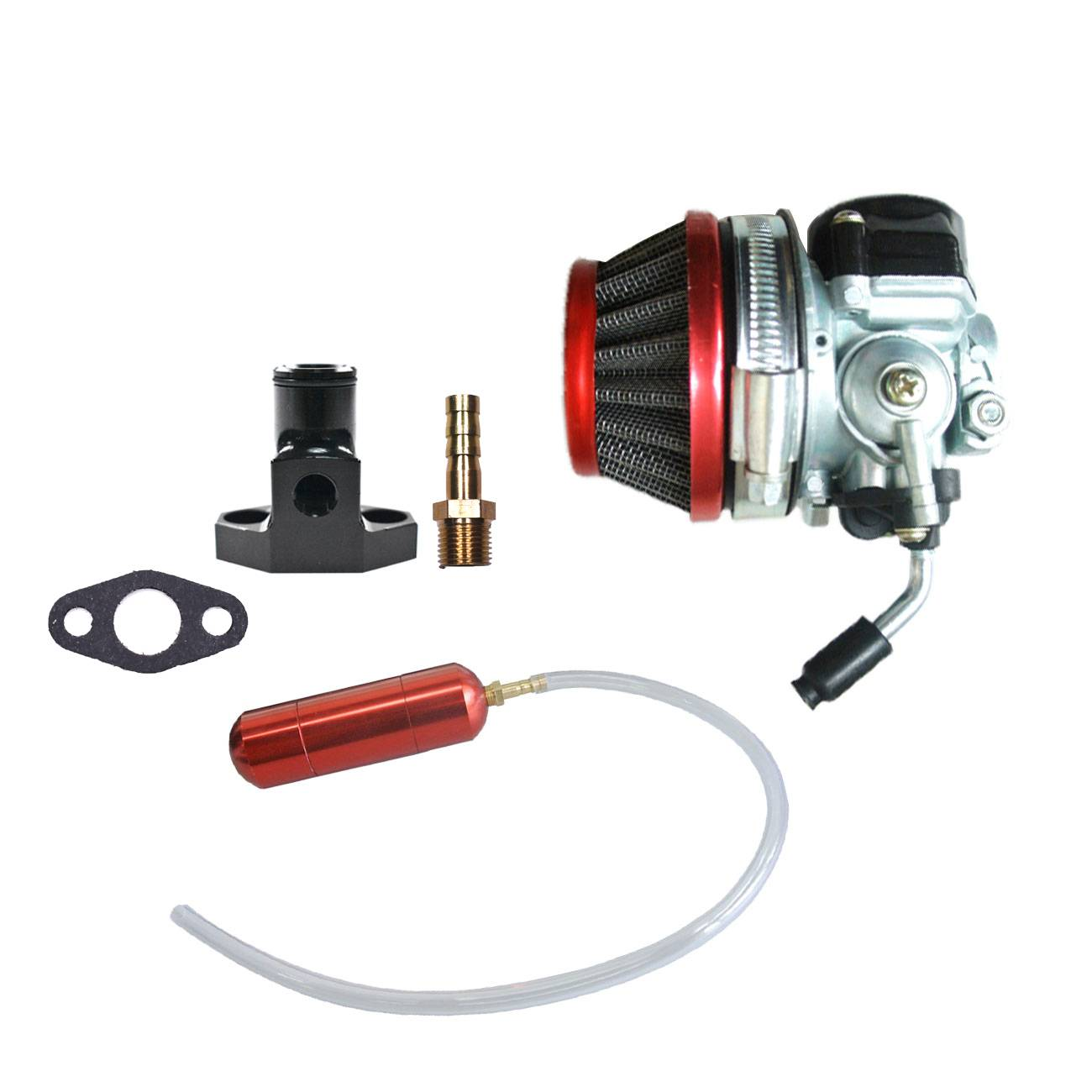 Air Filter&Carburetor&Gas Power Boost Bottle Fits 66cc 80cc Motorized Bicycle Engine