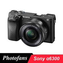 Sony A6300 беззеркальных цифровой Камера ILCE-A6300L с 16-50 мм объектив-24.2MP-видео 4k-Wi-Fi Фирменная Новинка