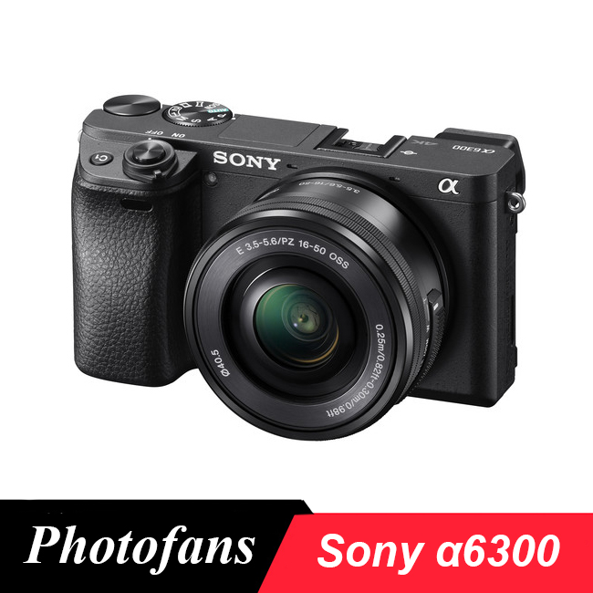 Sony Câmera Digital Mirrorless ILCE-A6300L com 16 A6300-50mm Lente-24.2 MP-4 K Video- wifi Novo