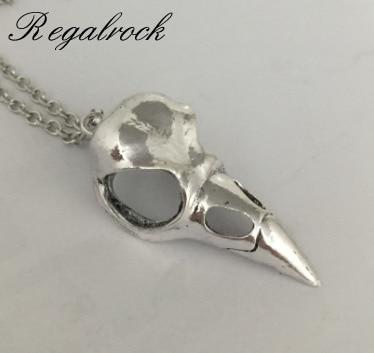 Hot Raven Crow Bird Skull Pendant Necklace skull necklace raven skull