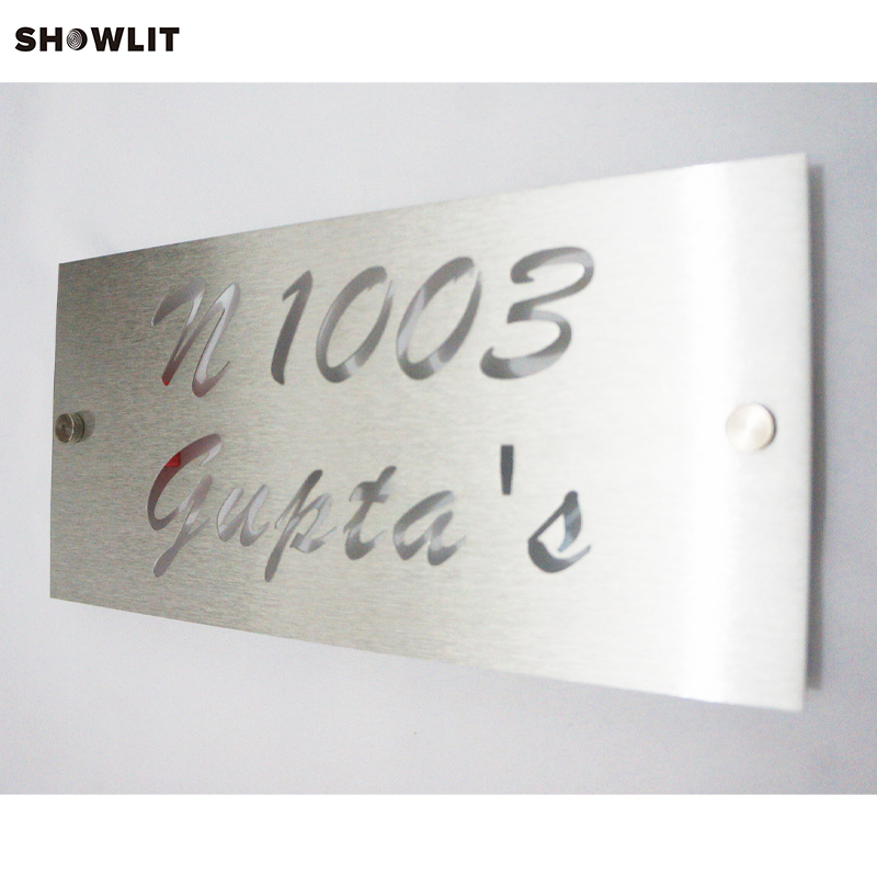 Modern Brushed Aluminum Install Address Signs modern brushed aluminum install address signs